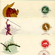 1961: FDC Japan - Olympic Games Tokyo - 3 First Day Covers