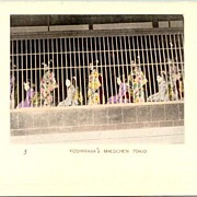 """Yoshiwara 's Girls"" Tokyo establishment. Old Postcard with Geishas"