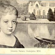 Juvenile Emperor Franz Josef in 1834: Beautiful old postcard.
