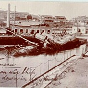 Two old Photos with Disaster Topics