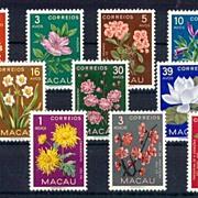 Macao Stamps1953: MNH Flower Stamp Set