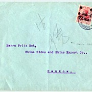 1914: German Post in China: Cover, Shanghai usage