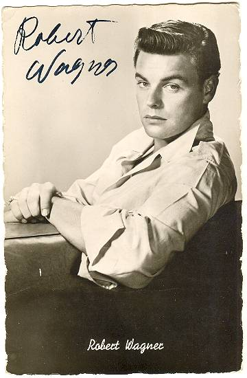 Very early Robert Wagner Autograph on Austrian Photo Card