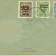1921: Abstimmung in Salzburg: Complete Set on Cover
