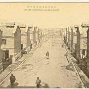 Old China, Dalien: Japanese Vintage postcard Coolie Quarters Jyji-Ko