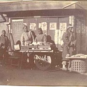Old China, Boxer Rebellion Period. Vendors at Street