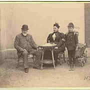 1895. Early Cabinet Photo: Birthday at the Country side. Fine Image.