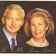 Autograph of Prince Hans Adam Liechtenstein. COA