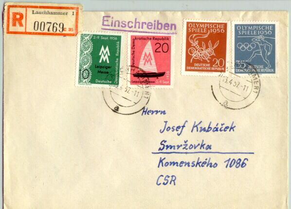 Olympic Games 1956. German Democratic Republic. Cover