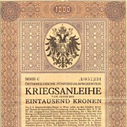 1915: Jugendstil Bond: 2nd Austrian War Bond