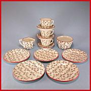 Ridgway English Toy China Tea Set – Daisy Pattern 13 Pcs.