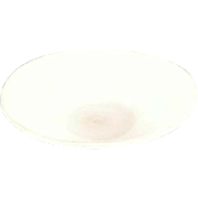 "Antique Dollhouse White Bristol Glass Bowl Late Victorian 1"" Scale"
