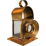 "Antique German Dollhouse Brass Lantern 1880s – 1900s Large 1"" Scale"