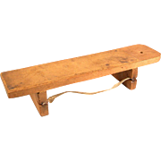 """Very Rare Antique German Dollhouse Wooden Knife Sharpening Board 1880s – 1900s Large 1"""" Scale"""