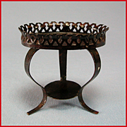 """Antique German Dollhouse Plant Stand / Side Table by Rock and Graner 1860s – 1880s 1"""" Scale"""