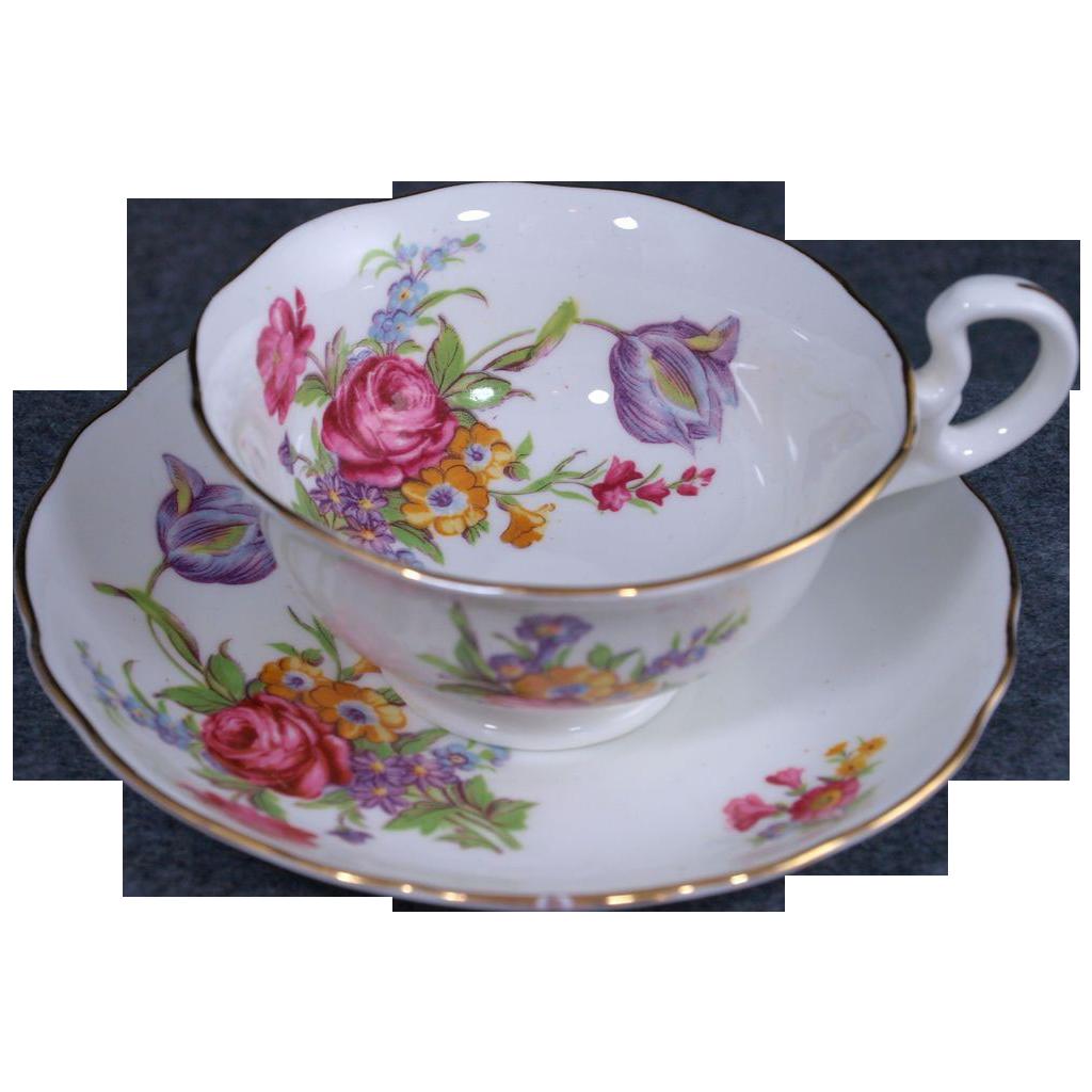 Radfords Bone China Made in England Tea Cup & Saucer
