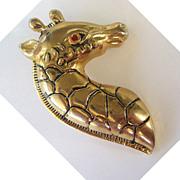 Gold Tone Giraffe Brooch/Pin