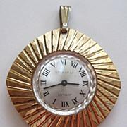 Jubilee Gold Tone Base Metal Pendant Watch