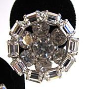 Kramer Round Rhinestone Earrings