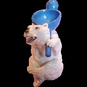 German Bohne Figural Polar Bear Spooner Spoon Utensil Holder c 1887 to 1896
