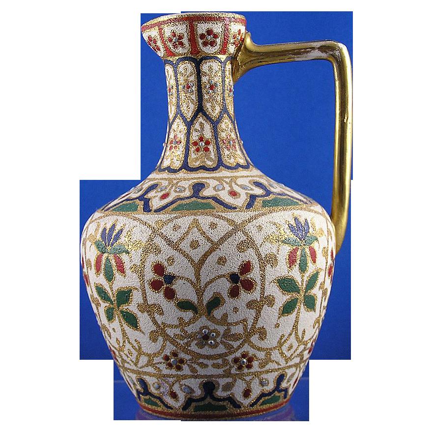 "Royal Bonn Islamic Motif  ""Jaypora"" Tapestry Pitcher/Ewer (c. 1890's)"
