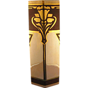 Bernardaud & Co. (B&Co.) Limoges Arts & Crafts/Mission Style Vase Signed by the Sisters of Notre Dame Covington, KY (c.1900-1914)