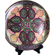 "Hutschenreuther Selb Bavaria Arts & Crafts Geometric Motif Charger/Plate (Signed ""A.M.T""/c.1920-1940)"