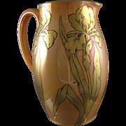 Hohenzollern Iris Motif Lustre Pitcher (c.1920's-1930's)