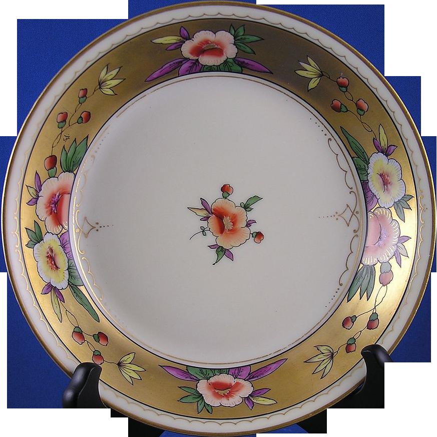"""Haviland Limoges Pickard Floral Motif Bowl (Signed """"FV"""" - Franz Vobornik/c.1903-1905)"""