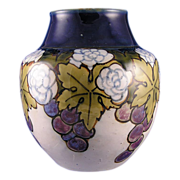 "Royal Doulton Arts & Crafts Grape Motif Vase (Signed ""Bessie Newberry""/c.1923-1927)"