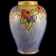 "Royal Doulton Arts & Crafts Floral Motif Vase (Signed ""Winnie Bowstead""/c.1923-1927)"