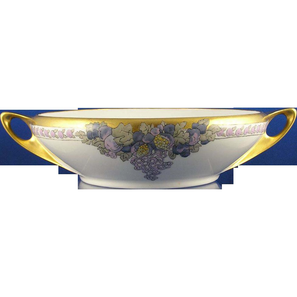 "Rosenthal Donatello Arts & Crafts Fruit Motif Bowl (Signed ""Maybelle Redding""/Dated 1915)"