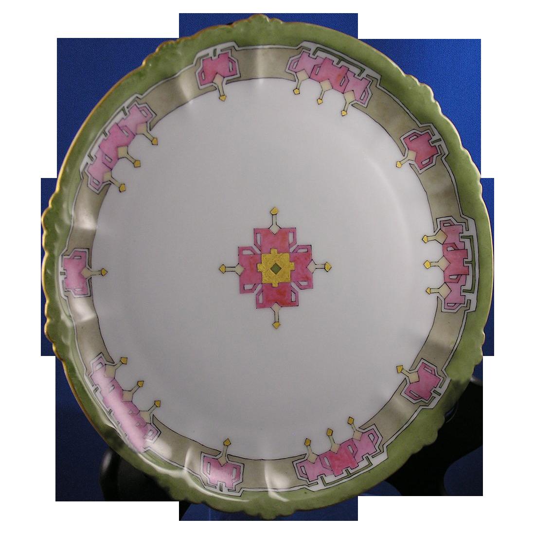 "Rosenthal Bavaria Arts & Crafts Plate (Signed ""F. Bott.""/Dated 1913)"