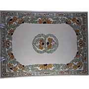 RARE & LARGE T&V Limoges Arts & Crafts Black-Eyed Susan Design Tile/Plaque (c.1892-1907)