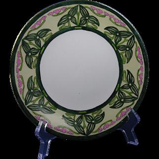 "SALE Porcelain Limousine (PL) Limoges Arts & Crafts Flower & Vine Motif Plate (Signed ""H.E.""/c.1905-1930)"