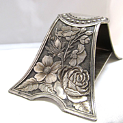 SALE Victorian Tufts Silver Plate Arched Foliate Napkin Ring Aesthetic Era