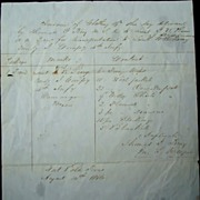 1846 Fort Polk,Texas Mexican-American War Document