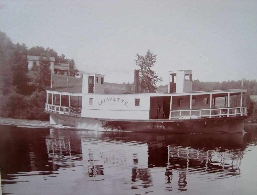 Photo of Steamer Boat Lafayette Pontoosuc Lake Pittsfield,Mass.
