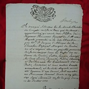 1773 Document from the King of Savoy Sardinia