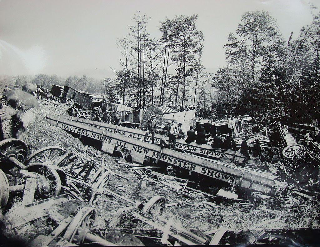 Original Photos of Walter L.Main's Circus Monster Show Train Wreck Tyrone,Pa 1893