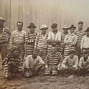 1915 Bradford County,Florida Baseball Prison Team Photograph