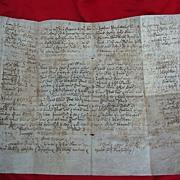 18th century Anne,Queen of England Great Britain Document on Vellum