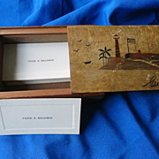 SOLD Folk Art 1940's Cuba Secret hand made Box. Thomas Baldwin
