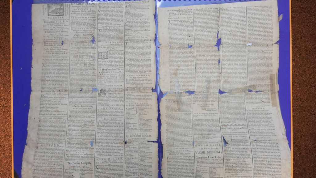 1783 New York Newspaper Suffering American Loyalist  Whopping Cough
