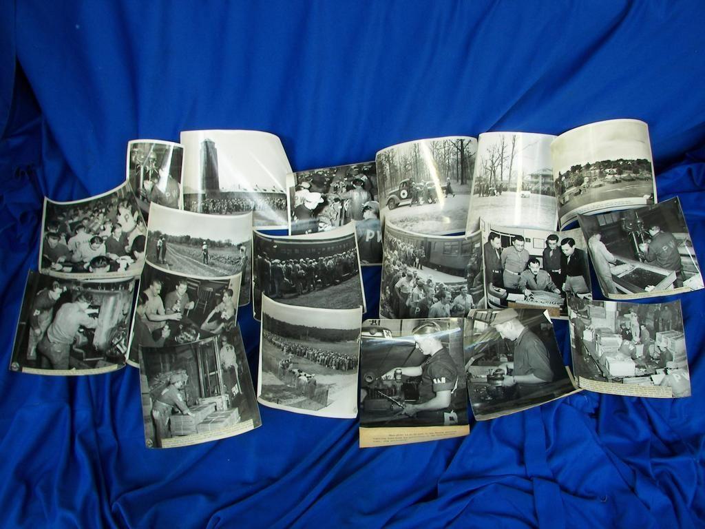 German P.O.W. Original Photos at Ft. Sheridan,Illinois