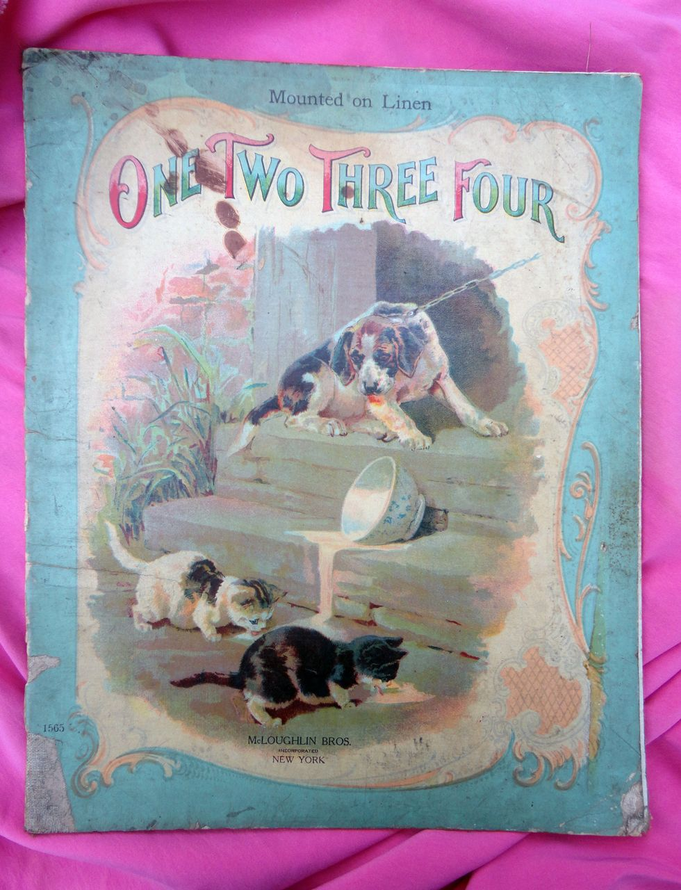 McLoughlin Bros. Chromolithograph Children's Book One Two Three Four