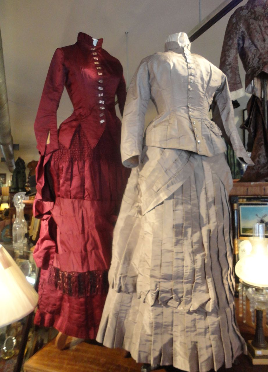 Stunning Lady in Red 1880 Bustle Dress...Eye Candy