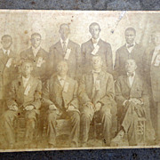 Early Daytona Beach,Florida Albumen Photo of Howard Thurman with other African-American Young Men