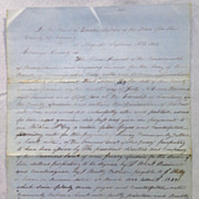 Very Interesting  Arrest Warrant for Counterfeiting Venango County,Pa 1852