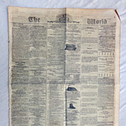 Civil War Newspaper THE GLOBE June 1st 1861